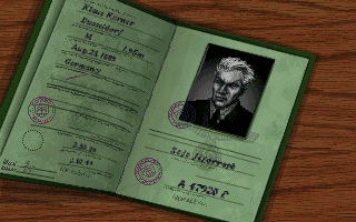 Indiana Jones and the Fate of Atlantis Klaus Kerner passport screenshot