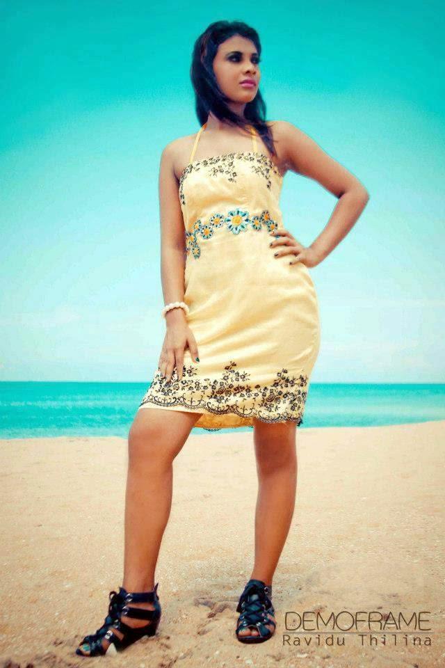 Hashini Madumanjali short dress
