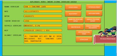 Download Contoh Blank dan Aplikasi Buku Induk Siswa TK/PAUD SD/Mi SMP/MTs SMA/SMK/MA