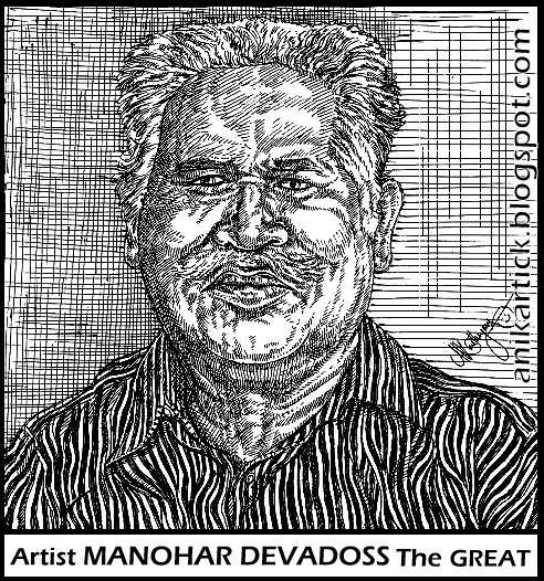 Famous Line Artists : Manohar devadoss an indian artist and famous in temple s
