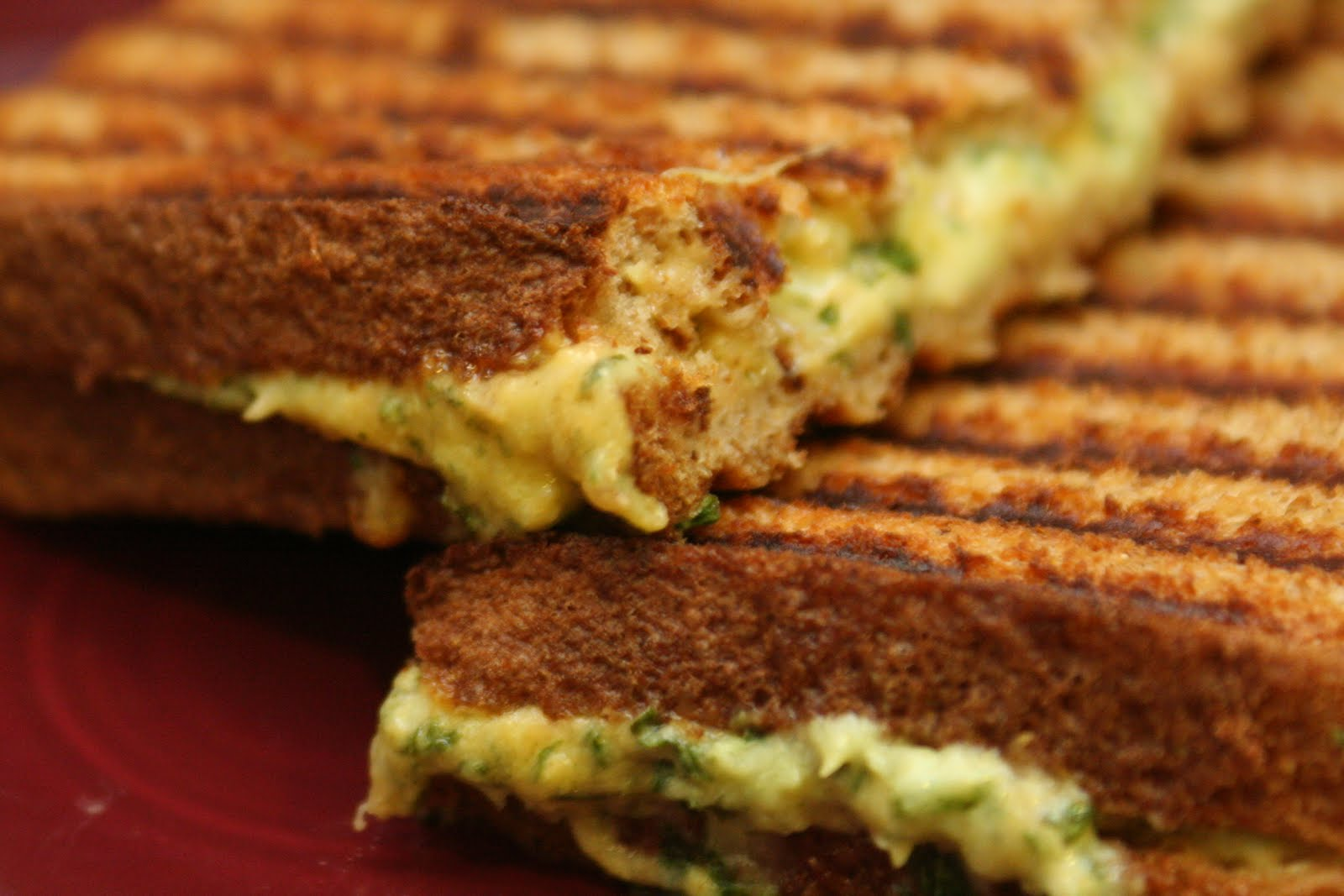 Cooking Claire: Green Goddess Grilled Cheese Panini