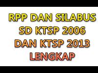 RPP DAN SILABUS SD KTSP 2006 DAN 2013 LENGKAP
