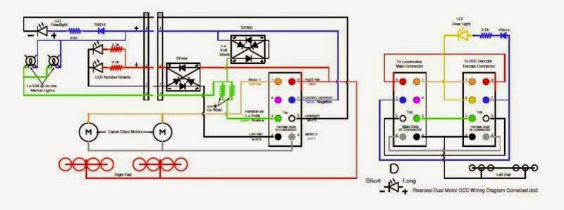 My model railroad august 2014 this is the finished drawing of my dcc wiring diagram for my dual canon en22 motor rivarossi locomotives the 14 volt lm317 regulator has been removed and asfbconference2016 Gallery