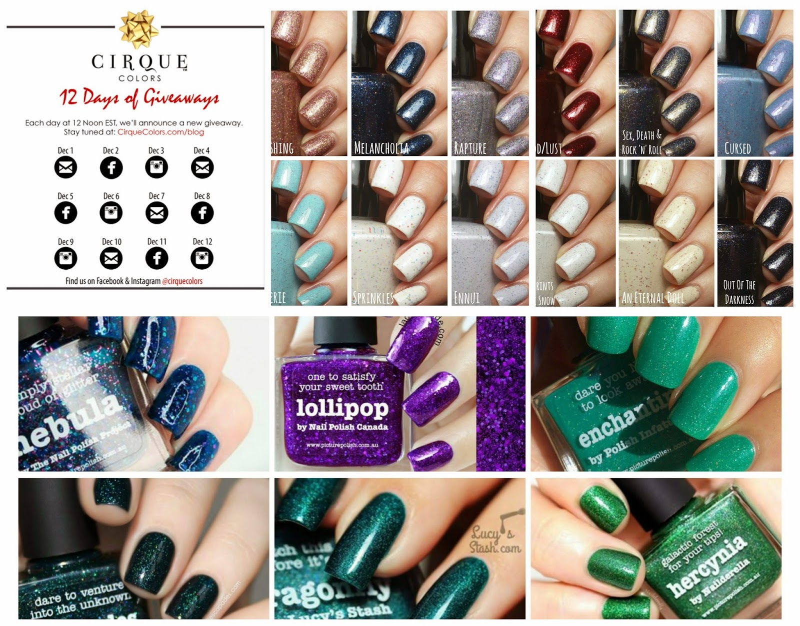 Squeaky News #2 with Renaissance Cosmetics, Cirque Colors and piCture pOlish