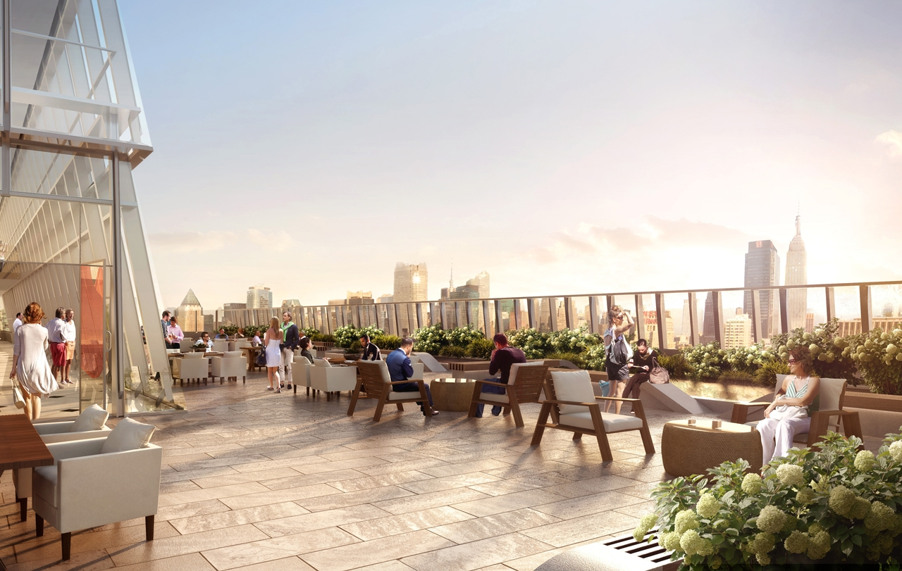 Picture of outdoor terrace on the north tower