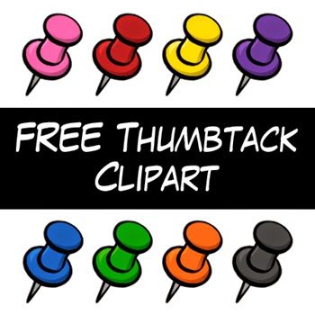 Free Thumbtack Clipart by Digital Classroom Clipart