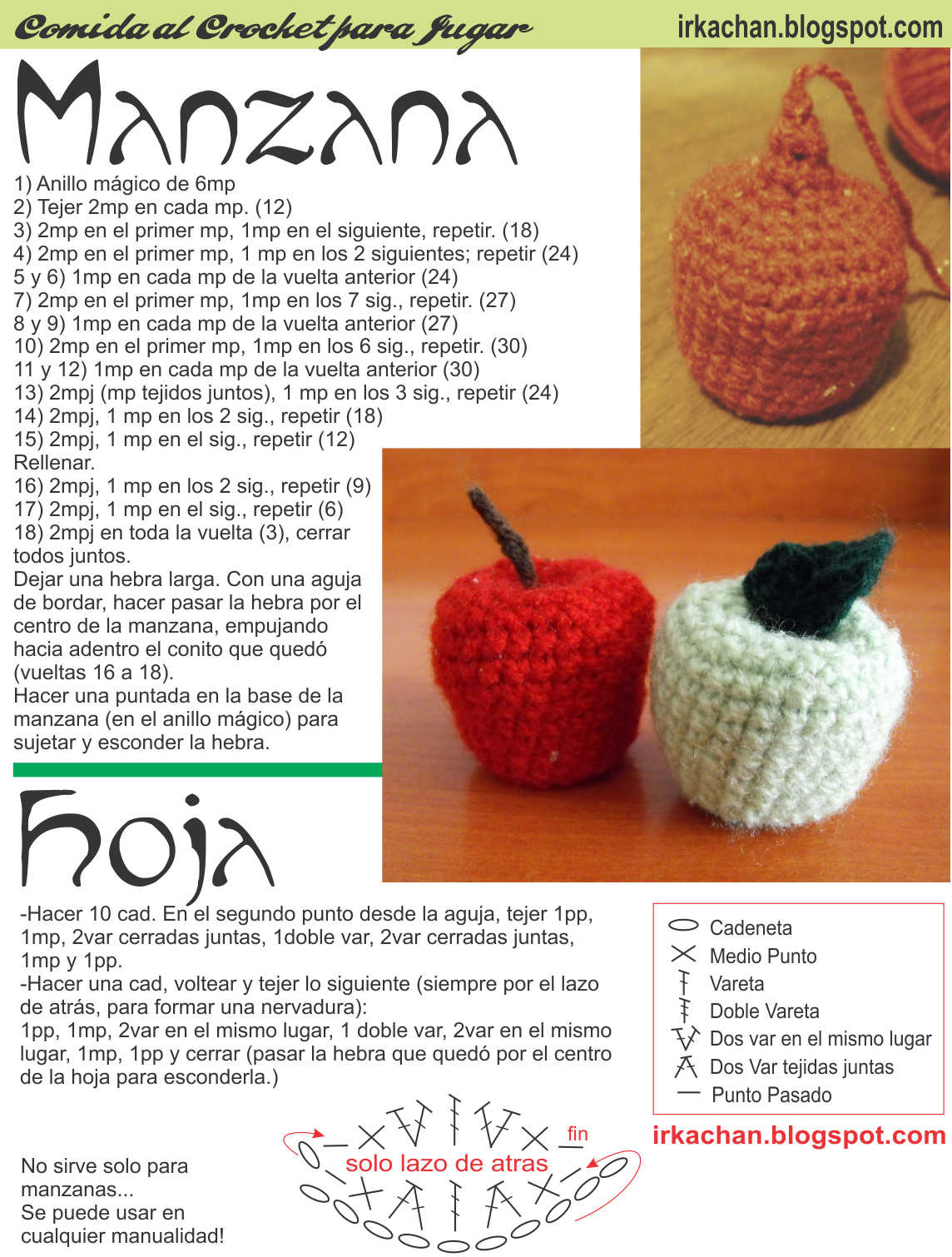 Irka!: Comida al Crochet - parte 2