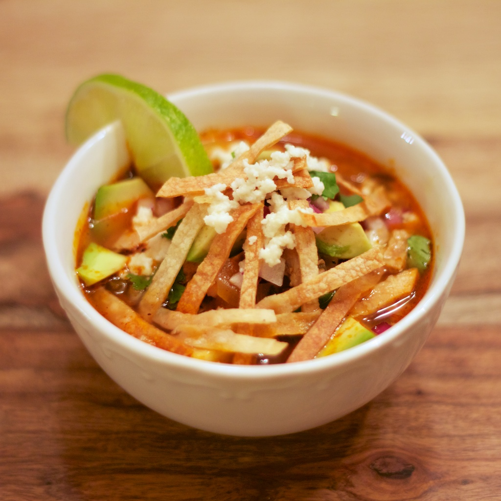 Mexican Tortilla Soup Is chicken tortilla soup.