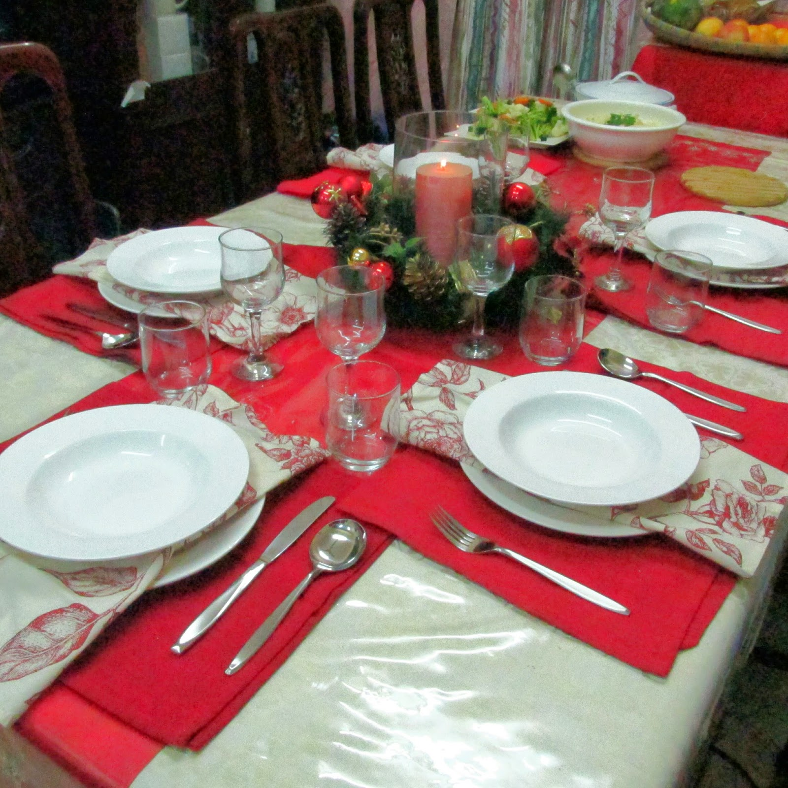 Darlene's Dinner Table at Christmas