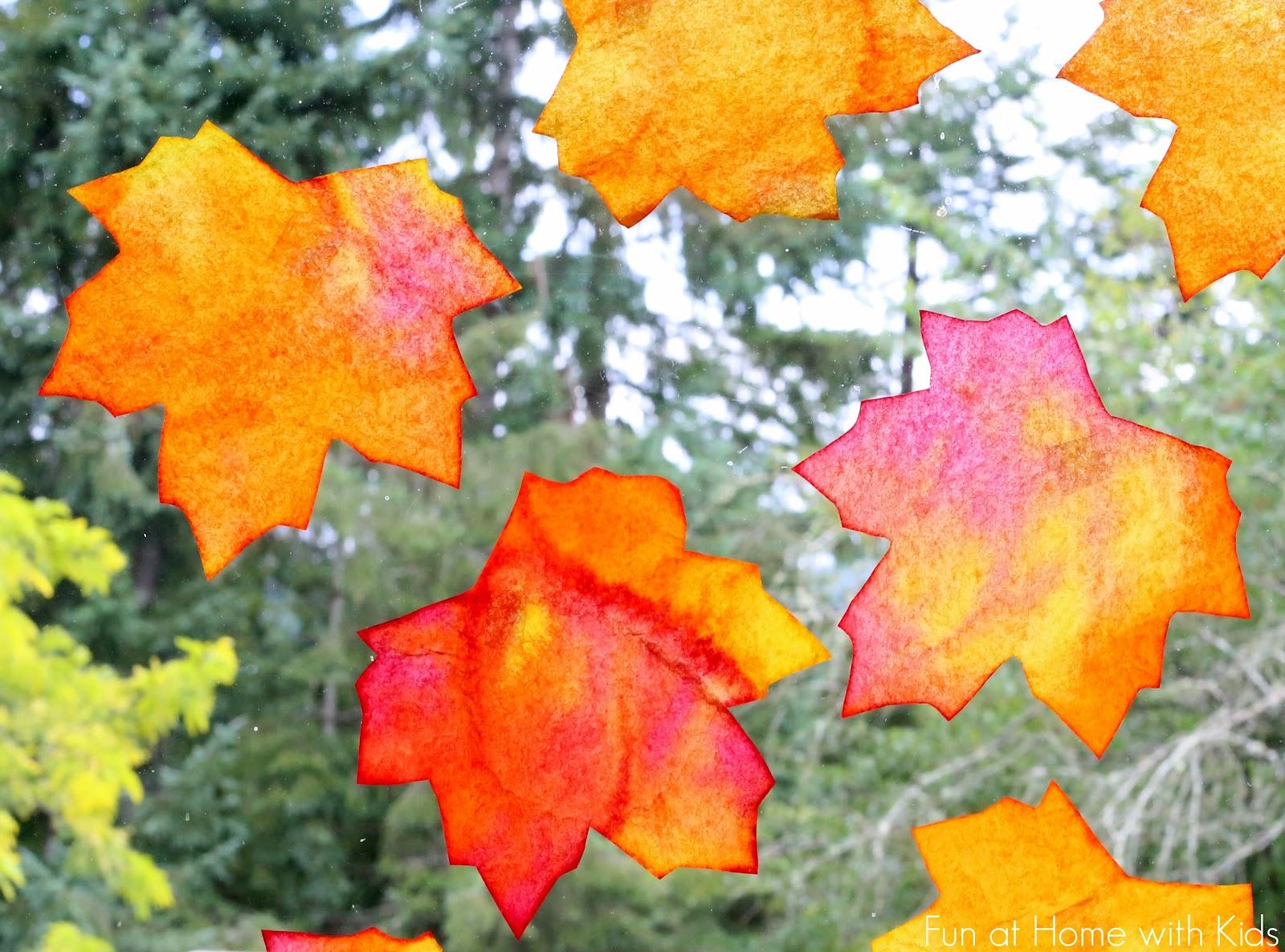 fall window art leaf suncatchers free printable template