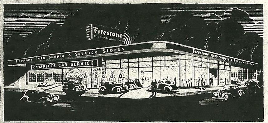 Grant County History Harvey Firestone S Dream Store In Marion