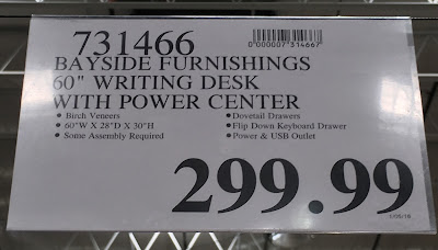 Deal for the Bayside Furnishings Writing Desk at Costco