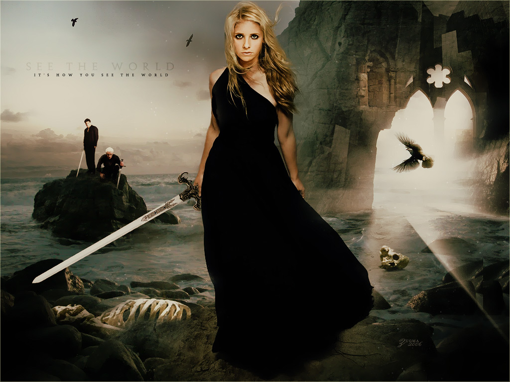 Buffy Buffy-spike-angel-buffy-the-vampire-slayer-677664_1024_768