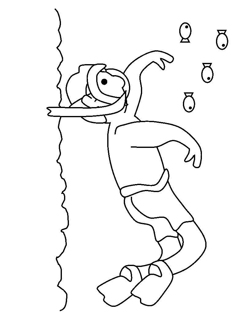 Types Of Sports Coloring Pages