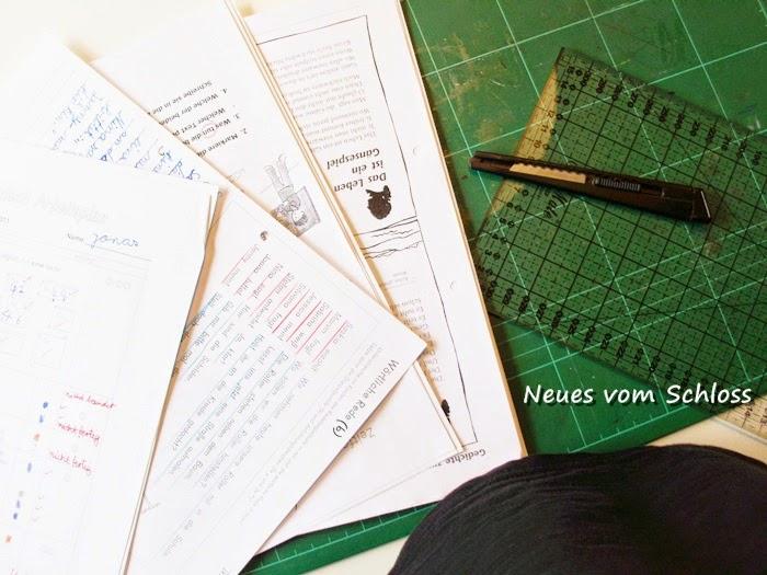 creadienstag, upcycling, Gelatinedruck- neuesvomschloss.blogspot.de