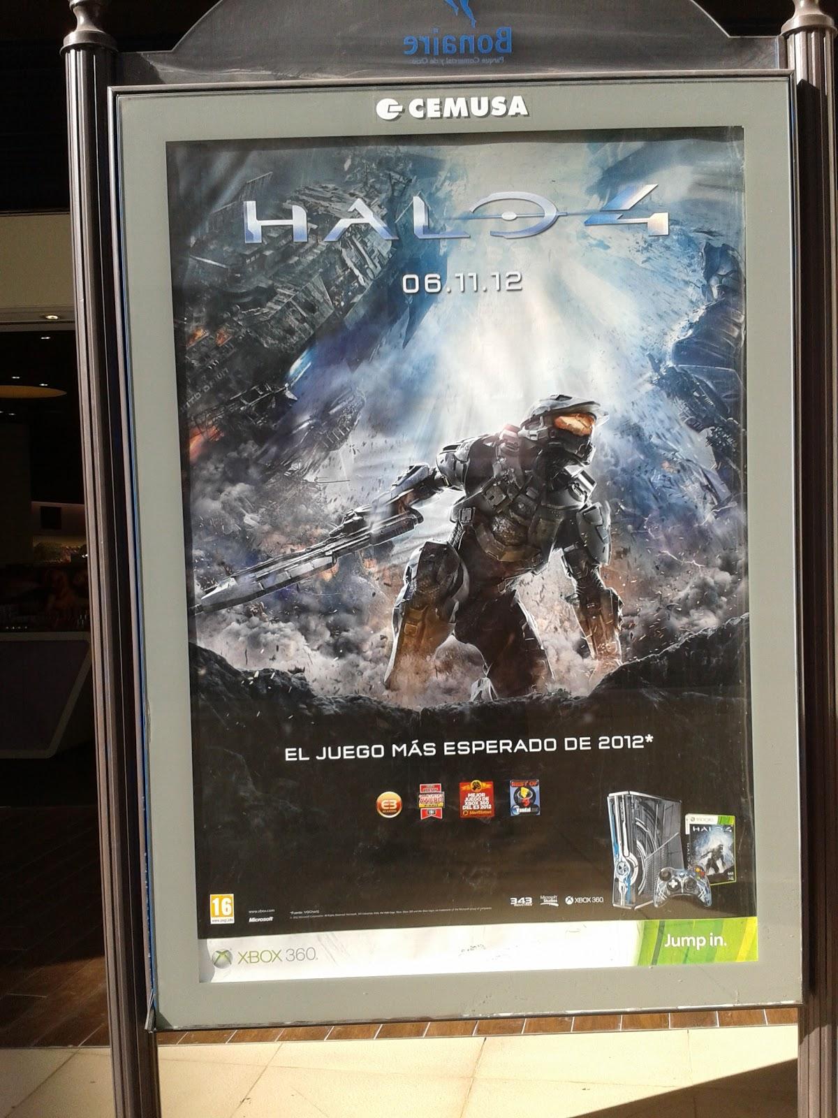 Cartel Halo 4 en Centro Comercial Bonaire
