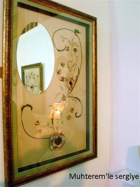 Ribbon Embroidery mirror