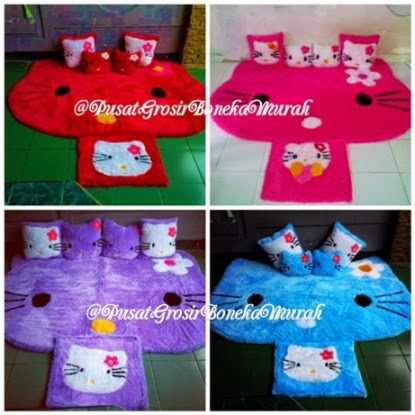 [BOOMING] Pusat Grosir Karpet Kepala Hello Kitty