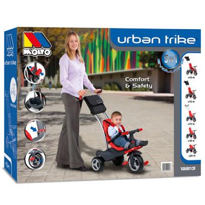 TOYS : JUGUETES - MOLTO Urban Trike - Triciclo Producto Oficial | Molto 12213 | Edad: 10-36 meses Comprar en Amazon España