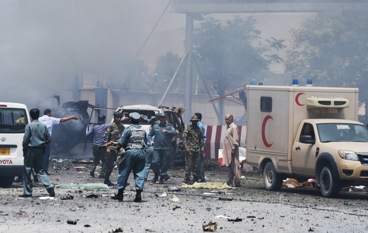 Bomb blast at Kabul, Afghanistan Airport Entrance by Taliban