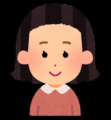 前髪の短い女の子のイラスト