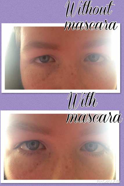 Covergirl Lash Exact Mascara Before and After