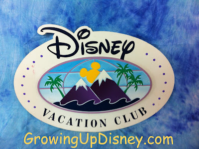 Growing Up Disney DVC sign