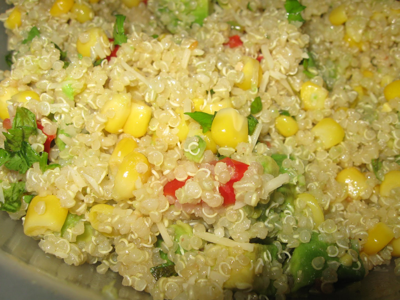 Quinoa With Corn, Tomatoes, Avocado, And Lime Recipe ...