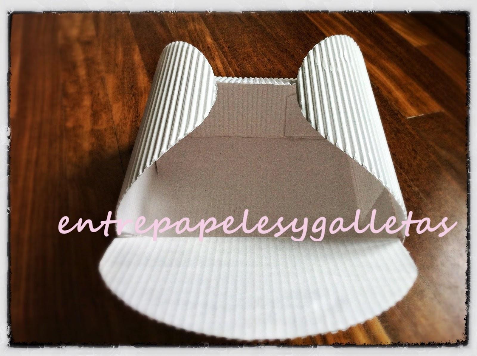 Tutorial de caja en cart n corrugado entre papeles y - Como hacer una caja con carton ...