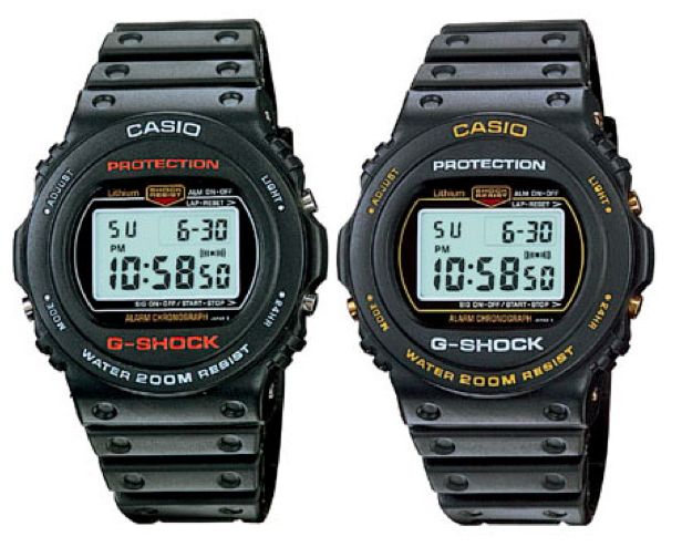 It Was The First Time Casio Ventured Away From Basic Original Square Design DW 5400 Came In Two Versions 5400C 1 And 9