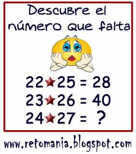 El número que falta, Descubre el número, ¿Cuál es el número?, Problemas matemáticos, Problemas de lógica, Problemas de ingenio, Problemas para pensar, Desafíos matemáticos, Desafíos mentales