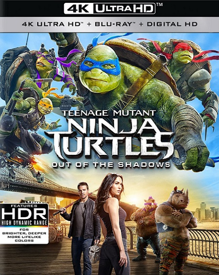 Teenage Mutant Ninja Turtles: Out of the Shadows 4K (Tortugas Ninja: Fuera de las Sombras 4K) (2016) 2160p 4K UltraHD HDR BluRay REMUX 55GB mkv Dual Audio Dolby TrueHD ATMOS 7.1 ch