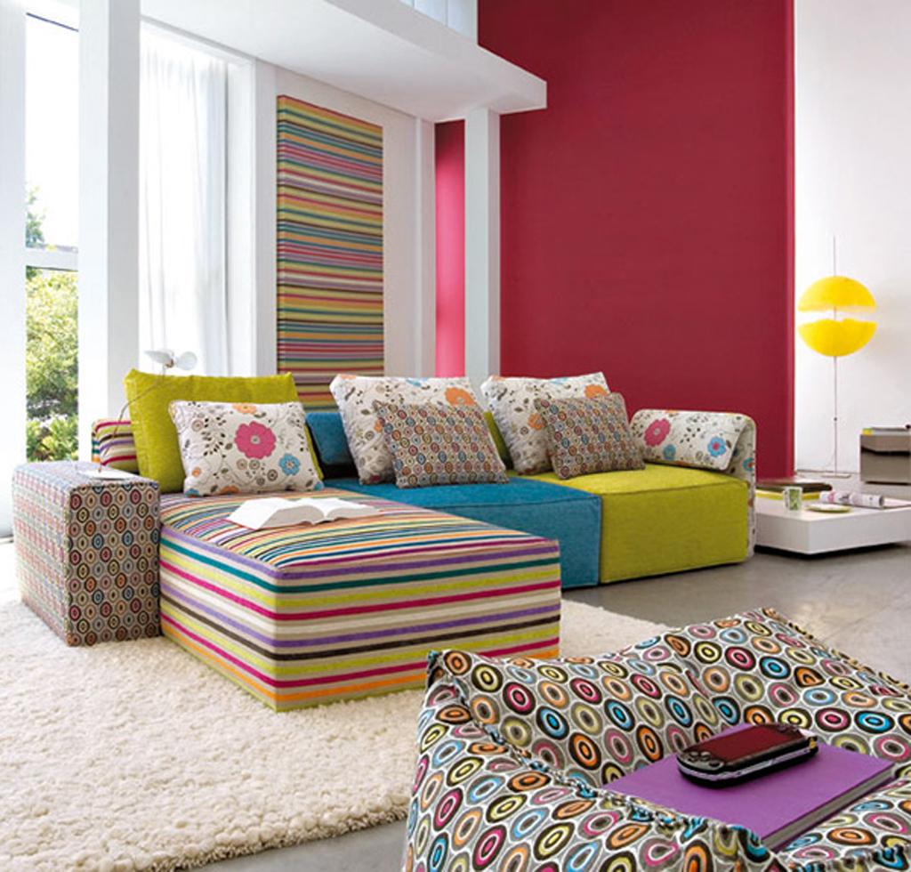 Vibrant Family Room Interior Design Idea , Home Interior Design Ideas ,  Http://