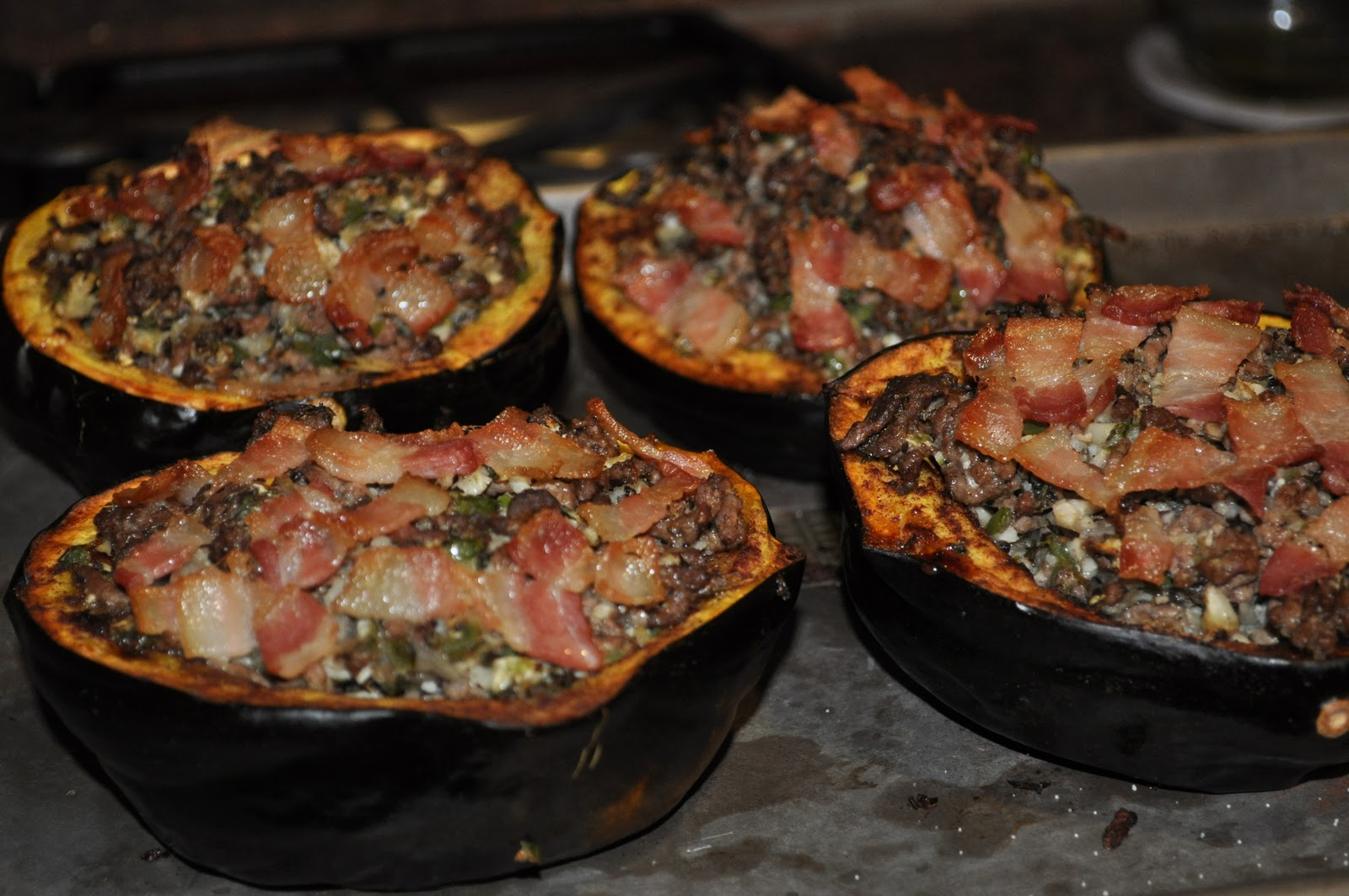 Dialed-In Nutrition: Meat & Veggie stuffed Acorn Squash