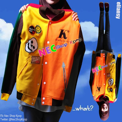 NEW ARRIVAL JAKET LUHAN MIXED COLOR VARSITY