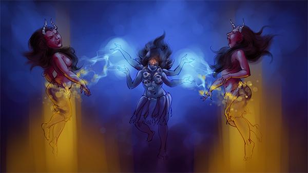 jaya vijaya mythological painting