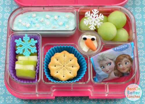 Disney Frozen Olaf the Snowman bento school lunch in Yumbox
