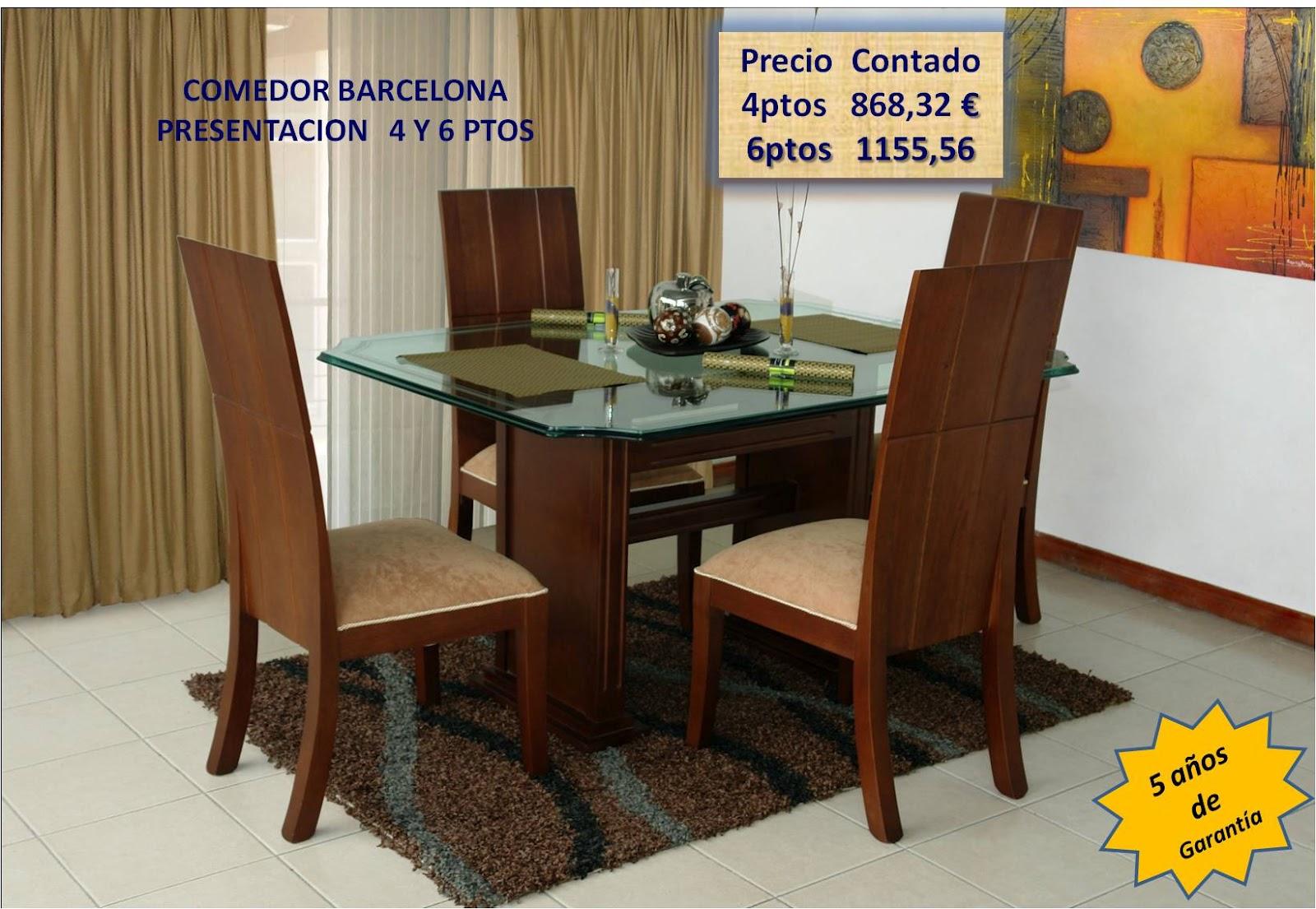 Muebles para colombia ibg madrid - Comedor barcelona ...