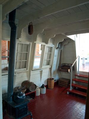 Interior de un barco en el Erie Canal Museum de Syracuse
