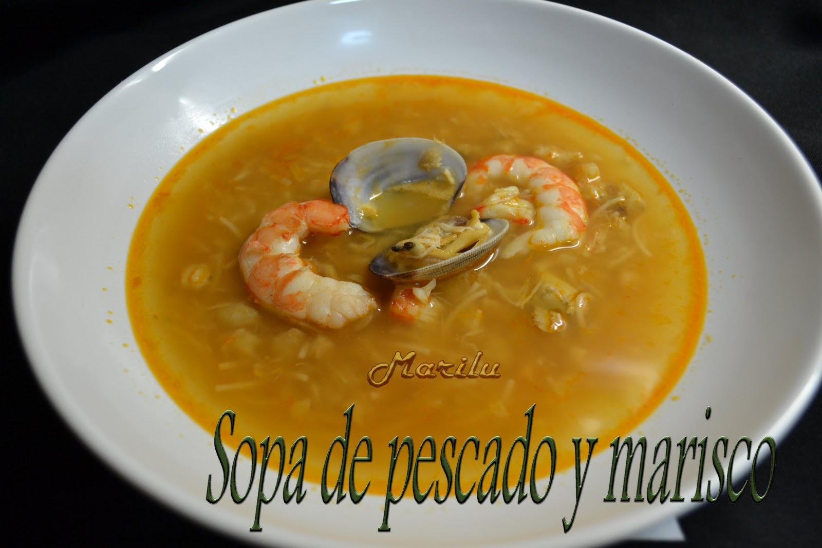 Maril entre pucheros sopa de pescado y marisco - Sopa de marisco y pescado ...