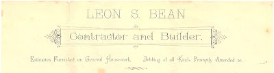 California contractor letterhead Leon Bean also known as L S Bean