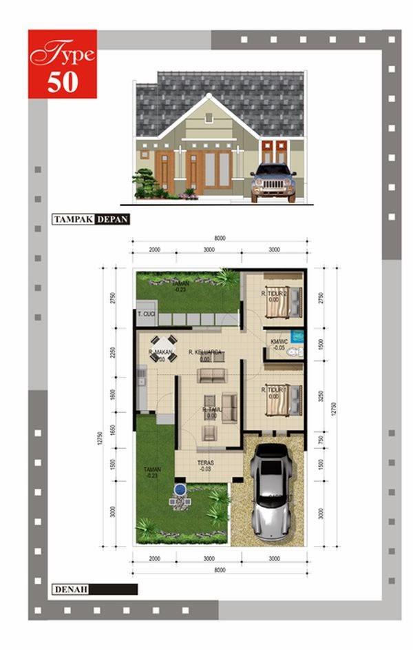 Kumpulan Desain Rumah Minimalis Type 45 Terbaru 2017