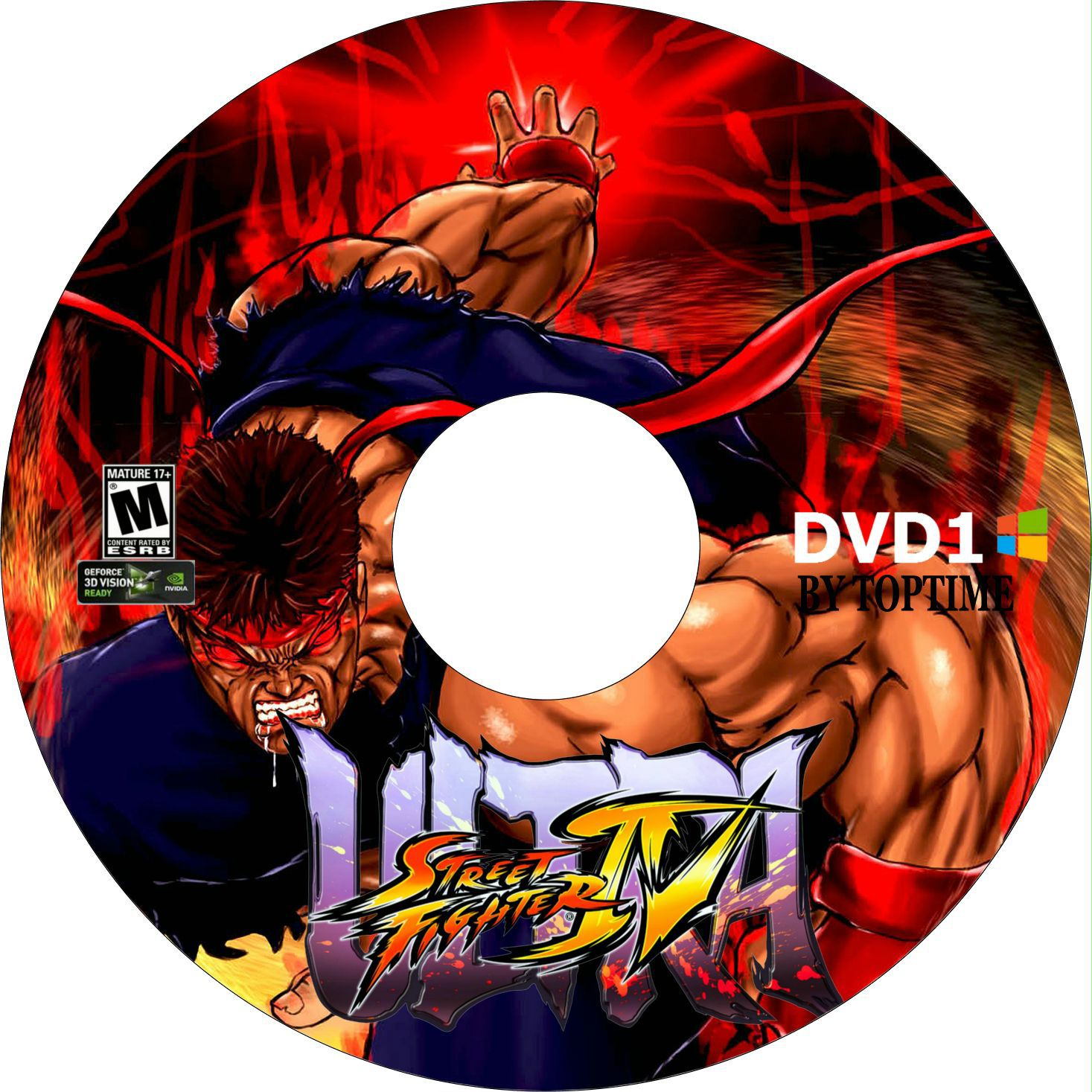 Label Ultra Street Fighter IV DVD 1 PC