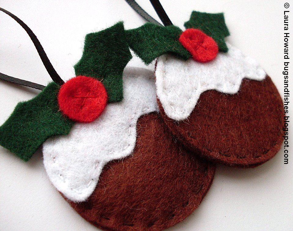 felt ornament how to 3 christmas puddings