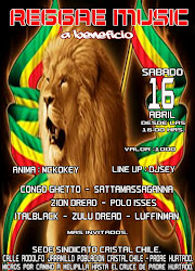 REGGAE MUSIC A BENEFICIO-16 de abril
