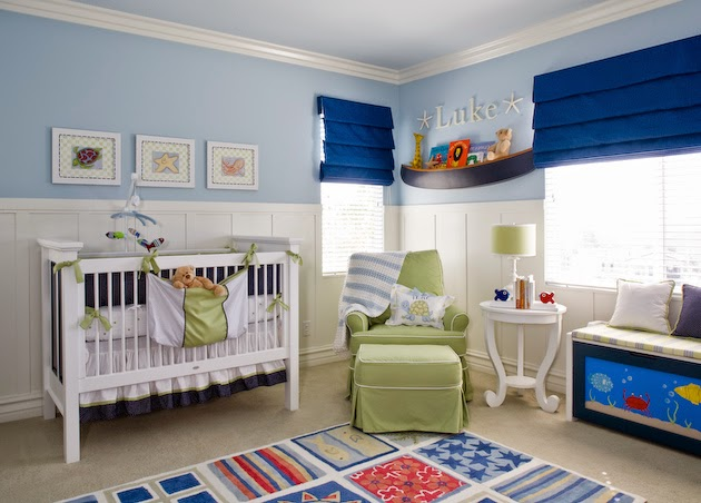 desain kamar bayi laki-laki minimalis