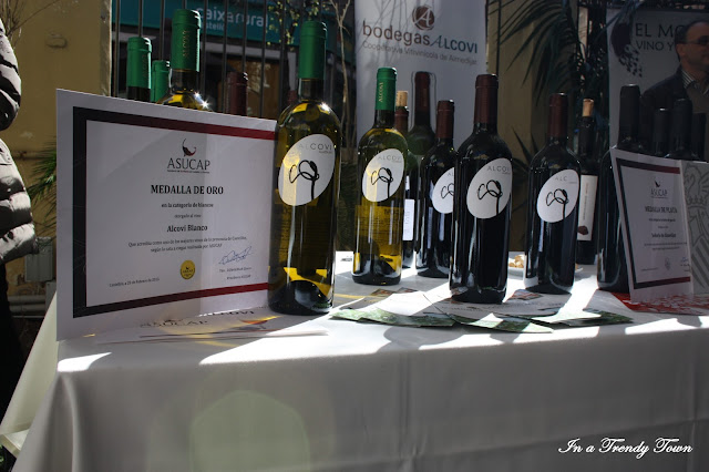 Botellas de vino blanco