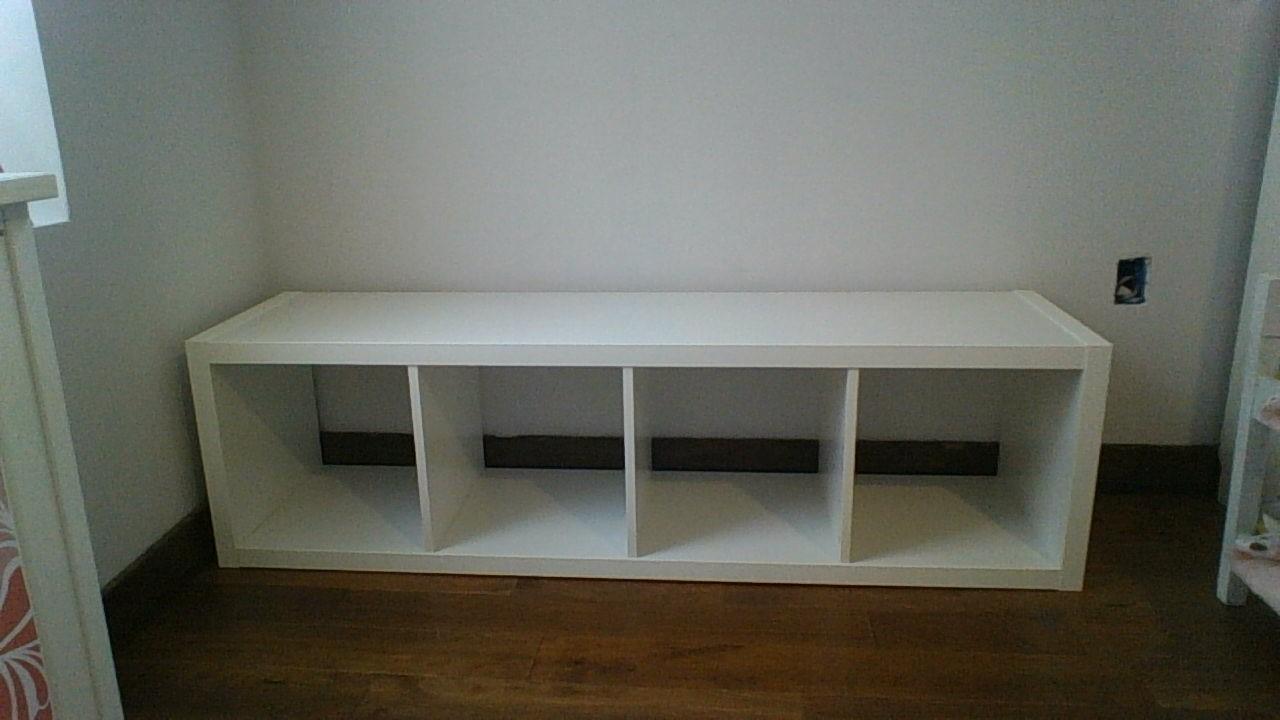 Kallax shelving unit cool ikea shelving unit brick sale for Ikea shelf bench hack