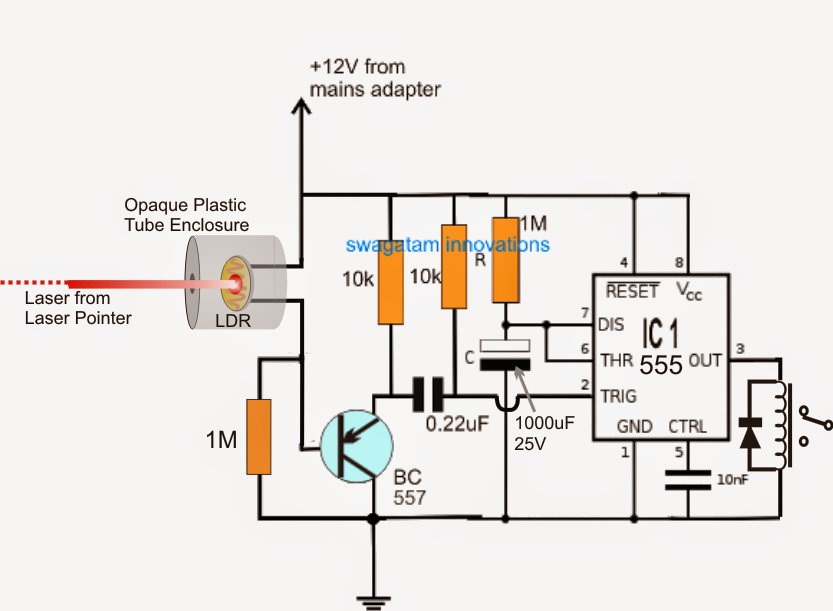 Simple Laser Alarm Circuit