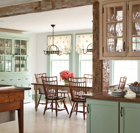 Colorful Kitchens With Charisma: Heir And Space: Windsor Chairs And Benches